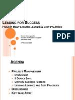 Leading for Success in Program Mgmt-V3.0