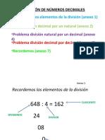 division numeros decimales  ppt