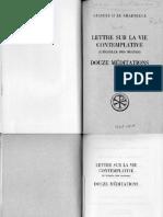 [Sources Chrétiennes 163] E. Colledge, J. Walsh - Guigues II Le Chartreux _ Lettre Sur La Vie Contemplative (Ou Échelle Des Moines). Douze Méditations (0, Editions Du Cerf)