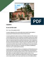 El arte de Villa Isabel