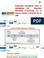 Propuesta Emergente Para La Modalidad de Atención Educativa B-Learning en El Nuevo Diseño Curricular de La USP