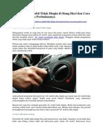 Penyebab AC Mobil Tidak Dingin di Siang Hari dan Cara Pencegahan serta Perbaikannya.docx