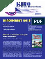 DAS KINO für Neues Bewusstsein - KINOHERBST 2018 - Programm