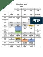 kindergarten schedule 18-19