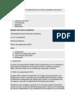 Las Partes Que Forman La Estructura de Un Informe Académico Son Por Lo General