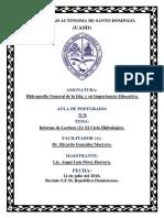 Informe Lectura (2) El Ciclo Hidrologico