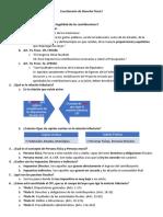 Cuestionario de Derecho Fiscal I