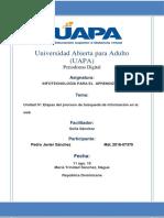 Unidad IV- Etapas Del Proceso de Búsqueda de Información en La Web