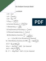 Endsem Formula Sheet