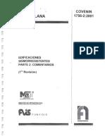 COVENIN 1756-02 Edificaciones Sismoresistentes Parte 2 Comentarios.pdf