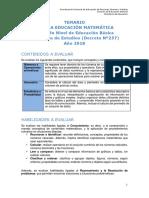 Temario Matematica Nb2 Ve 2018
