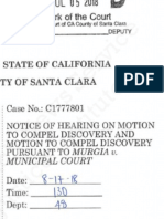 Murgia Compel Discovery Motion Filed July 5, 2018 by Defendant Susan Bassi