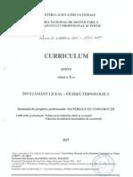 Curriculum clasa a X-a, învăţământ liceal, MATERIALE DE CONSTRUCŢII