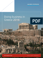 Doing Business in Greece 2016 Moore Stephens International Limited