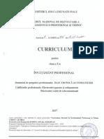 Curriculum pentru clasa a X-a, învăţământ profesional, domeniul de pregătire profesională ELECTRONICĂ AUTOMATIZĂRI, aprobat prin OMEN nr. 3915/18.05.2017