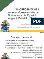 RESUMEN MORFOSINTAXIS II (Lecciones Fundamentales de Morfosintaxis