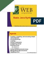 Java Basic Syntax