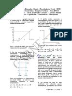 Lista de Exercícios 1 - Capítulo 18 - Termometria e Dilatometria