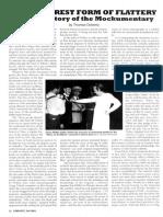 Thomas Doherty - Brief History of Mockumentary