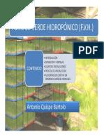 Forraje Verde Hidropónico (f.v.h.)