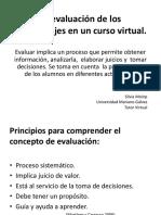 Evaluacion y educación virtual