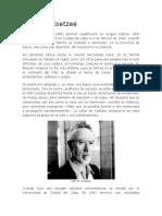 Biografia de John M. Coetzee