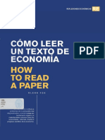 Cómo leer un texto de economía