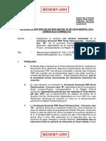 Informe de Estudio de Estado Mayor Nº 001