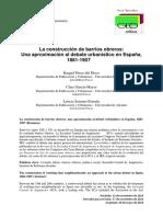 La Construcción de Barrios Obreros – Una Aproximación Al Debate Urbanístico en España 1881-1907