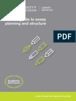 Short Guide Essay Planning