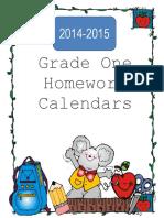homeworkcalendarsforgradeone
