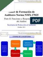 Parte II Auditores Internos NMX-17025 OCT2011