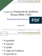 Taller Formacion de Auditores NMX-17025_OCT2011_rev0