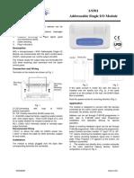 I-9301 Addressable Single IO Module Installation and Operation Manual