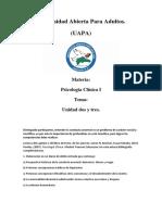 Tarea 2 y 3 de Psicologia Clinica I