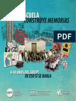 Libro La Escuela Construye Memorias
