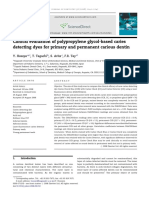 Clinical Evaluation of Polypropylene Glycol-based Caries Detecting Dyes for Primary and Permanent Carious Dentin