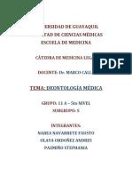 Deontología Médica - Grupo 11 a - Subgrupo 5