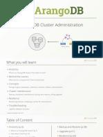 ArangoDB Cluster Administration