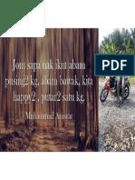 Quotes From Muhammad Amsyar