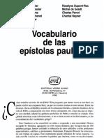 088 Vocabulario de Las Epistolas Paulinas, Varios Autores