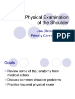 Physical Examiantion of the Shoulder. Chiou