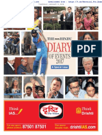 The Hindu Diary of Events 2017