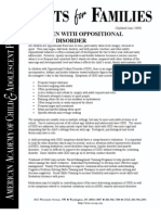 72 Children With Oppositional Defiant Disorder