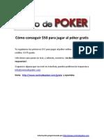 $50 Gratis Para Jugar Hoy al Poker Gratis