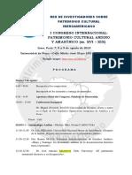 Programa Congreso Patrimonio