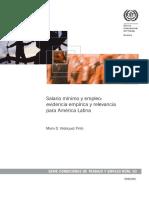 Velásquez Pinto, Mario D. - Salario mínimo y empleo_ evidencia empírica y relevancia para América Latina (OIT).pdf