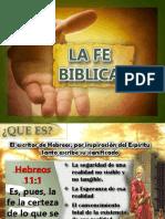 la fe biblica