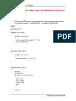 Ejemplos de Vectores y Matriz Mediante Modulos