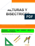 Alturas y Bisectrices